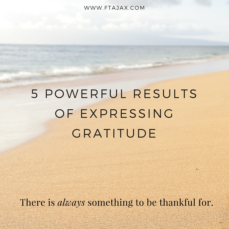 5 Powerful Results of Expressing Gratitude